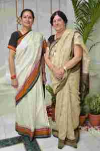 Sarita Baluja with Saroj Bhatia co founder Purnam