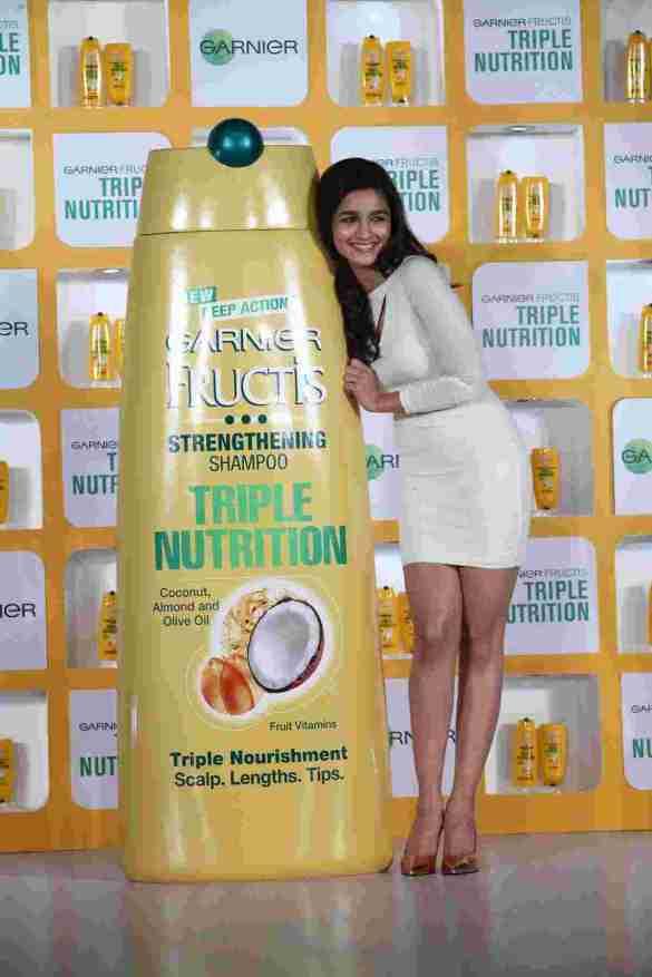 Alia Bhatt at the Garnier Triple Nutrition Press Conference