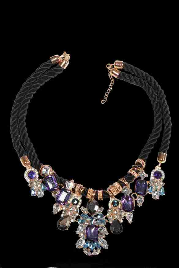 Black and Purple neckpiece from Trendy Divva, Price Rs. 1295