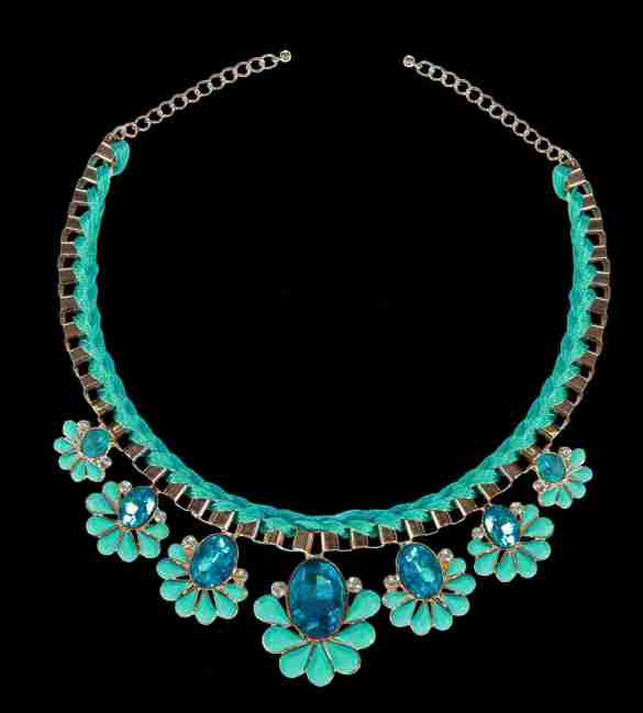 Coral Blue Neckpiece from Trendy Divva, Price Rs. 1295