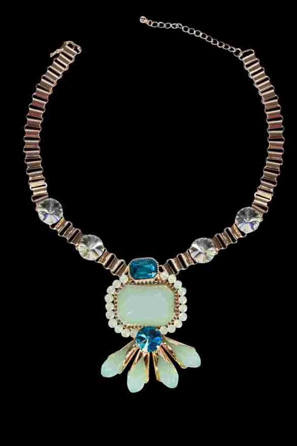 Gold and pastel neckpiece from Trendy Divva, Price Rs. 1295