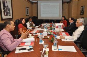 L to R - Ridham Desai, MD, Morgan Stanley,  Neera Saggi, Former President, BCCI, Shishir Joshi, CEO, Bombay First, Kiren Shrivastav, Founder, Fempowerment, Subhash Chandra,  Chairman, ZEEL, Adil Malia,