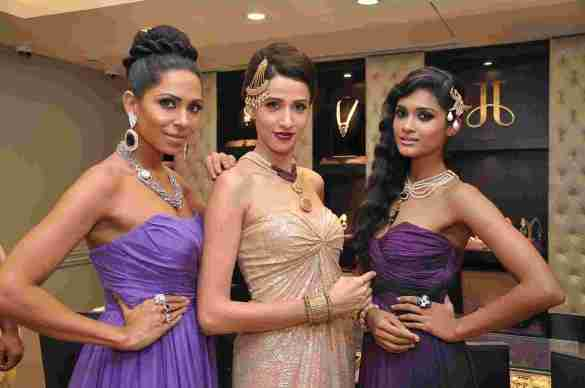 Models adorned in Make Time Stop Collection at Jaipur Jewels Store Launch