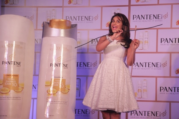 PANTENE BRAND AMBASSADOR TAKING THE NEEDLE TEST