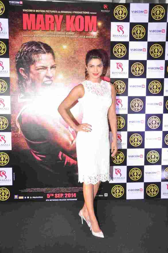 02 Priyanka Chopra @ Gold's Gym Bandra to promote fitness with the film Mary Kom