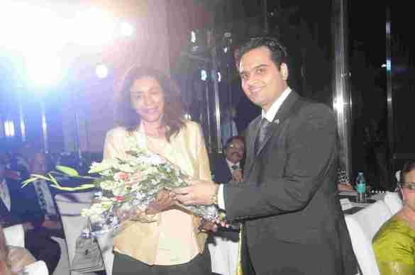 10. Aruna Jayanthi ( CEO, Capgemini India) felicitated by Mr. Ravi Whabi (Director,West Campus)  DSC_5486