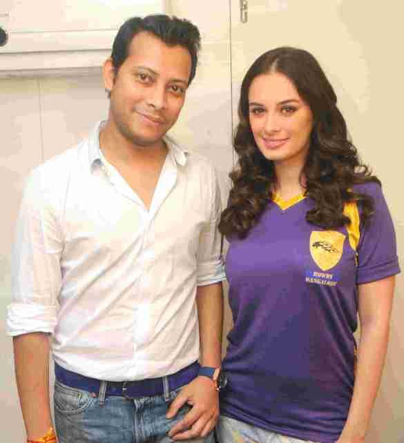 3. Mayank Singh with Evelyn Sharma DSC_2121