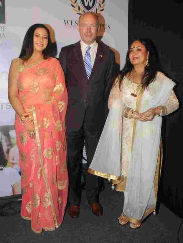 4. David Armstrong (President Broward College) with Jaspinder Narula & Gurpreet Kaur Chadha DSC_5695