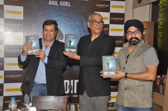 "~ Ajit Balakrishnan and Manak Singh unveiled author Anil Goel's Exit Point~  Leadstart Publishing and Crossword Bookstore hosted the book launch event of 'Exit Point' by author Anil Goel. The book was unveiled by Ajit Balakrishnan, Founder and CEO of Rediff.com and Manak Singh, Co-Creator of ASCENT  at Crossword bookstores.  The evening was quiet and peaceful affair as the book was launched and author shared his experience and details about the book.  Said Anil Goel ""The book is a tech thriller that keeps the reader clueless about the murderer till the end. The book has a series of events which slowly coincide and takes the story to an exciting end .I am sure readers will like the book and it keep them enthralled.""  Ajit Balakrishnan, Founder and CEO of Rediff.com said ""I am a big fan of thriller and mystery books; Exit Point is a well written book and justice has been done to all characters and events. I would like to congratulate Mr. Anil Goel for writing such a captivating book"".  Manak Singh, Co-Creator of ASCENT said"" I would like to congratulate Mr. Anil Goel on his book launch. The first book by him was very well written and I am sure readers will like this book also.  I wish him all the best for his future endeavors.""  Mr. Swarup Nanda, CEO, Leadstart Publishing said ""We at Leadstart are happy to associate with Mr Anil Goel. He is a very well thought writer and does justice to all his characters and story. We would like to thank Ajit Balakrishnan and Manak Singh for being the part of event."""