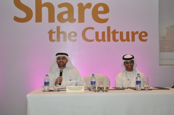 HE Khalid Jasim Al Midfa- Director General, Sharjah Commerce & Tourism Development Authority along with Khalid Waleed Al Mansoori, Executive, Destination Development Programme at Sharjah India Road show Mumbai1