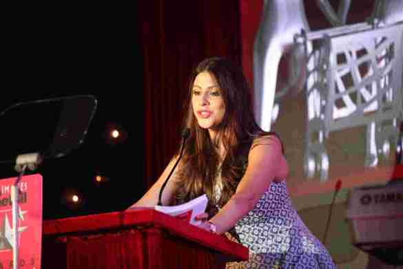 Karishma Kotak hosting Images Retail Awards, 2014..