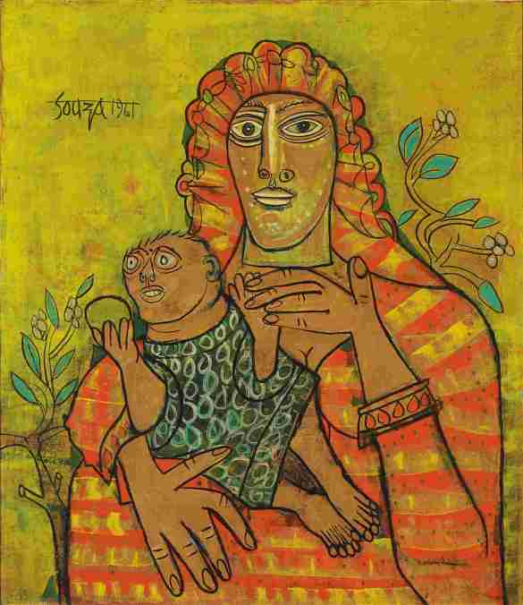 Mother and Child by F. N. Souza