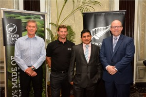 L-R: Richard White, NZ Trade Commissioner to India, Stu Donald, Regional Head, Silver Fern Farms, Yogesh Grover, Director, Empire Foods and Grahame Morton, NZ High Commissioner to India