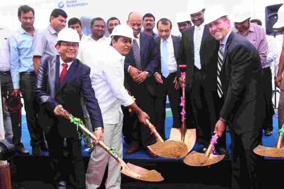 (L to R) Palash Roy Chowdhury, Country Manager - India, Pratt & Whitney_ KT Rama Rao, Minister for IT & Panchayat Raj, Telangana State_ Bruce Hall, General Manager – Customer Training, Pratt & Whitney