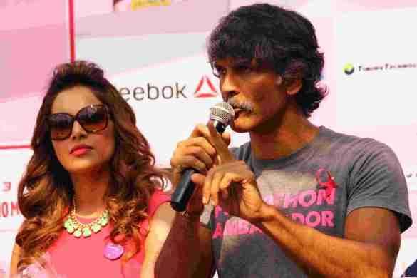 Actress &  fitness icon Bipasha Basu, Milind Soman