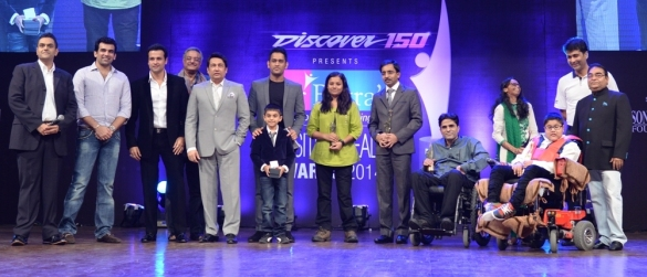 M S Dhoni and Zaheer Khan at Dr Batra's Positive Health Awards