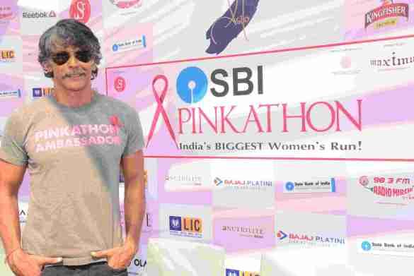 Milind Soman at Pinkathon Mumbai