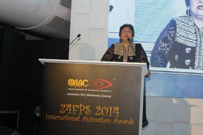 Mrs. Kiran Mehra-Kerpelman at MAAC's 11th 24 FPS International Animation Awards 2014