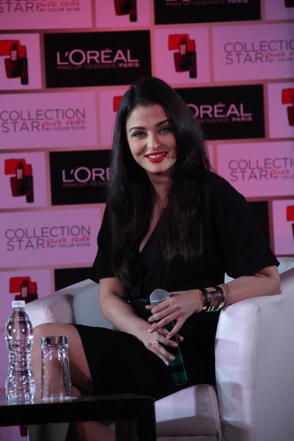 Aishwarya Rai Bachchan at L'Oreal Paris Pure Reds Launch