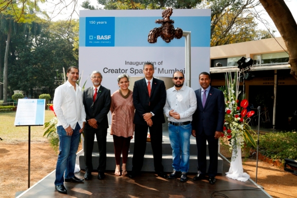 from left to right – Vikram Bawa, Dr. Raman Ramachandran-(Chairman and MD, BASF India Limited and Head BASF South Asia), Brinda Miller, Sanjeev Gandhi (Member of the Board of Executives Directors of BASF SE),Vikram