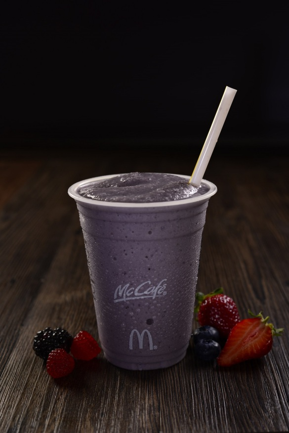 McCafe- Real Fruit Smoothies- Mixed Berry