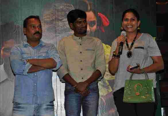 Director Pandhurang Jadhav and the lead actors at the music launch of Manaatlya Unhat  (43