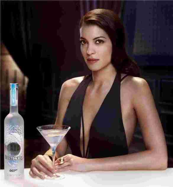 Belvedere_Vodka_Stephanie Sigman with bottle