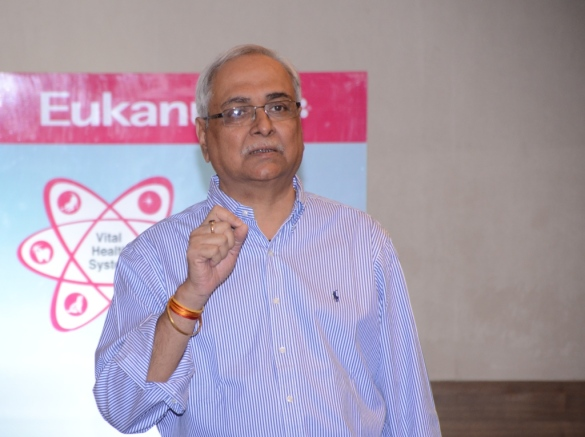 Mr. Nitin Kulkarni, Director-Corporate Affairs, Mars India at the launch of 'Eukanuba' (International pet food brand) at Grand Hyatt, Mumbai