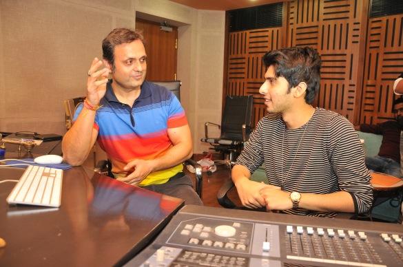 1. Shiezwood Ashish with Armaan Malik recording a song - ZURRORI.JPG