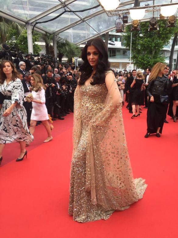 L'Oreal Paris ambassador Aishwarya Rai Bachchan on the Cannes red carpet...