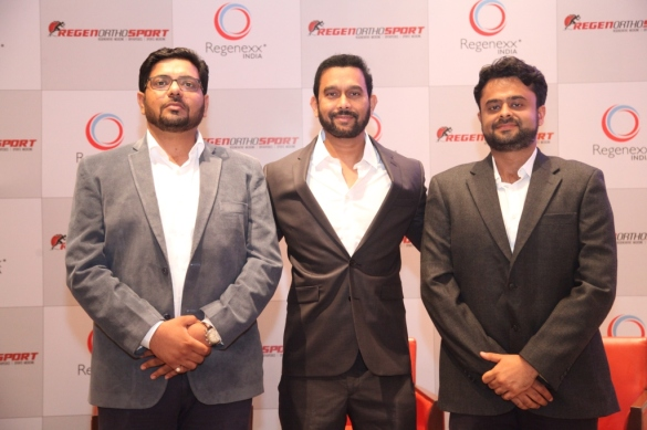 left to right Dr Apurv Mahalle, Dr Venkatesh Movva and Dr Madhur Chadha from regenexx
