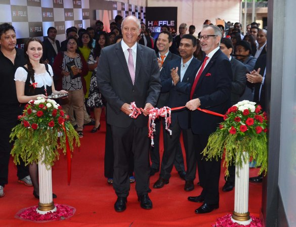 The Consul General of the Federal Republic of Germany Dr. Jürgen Morhard, inaugurate the showroom together with Mr. Jürgen Wolf - Managing Director, Hafele South Asia (4)