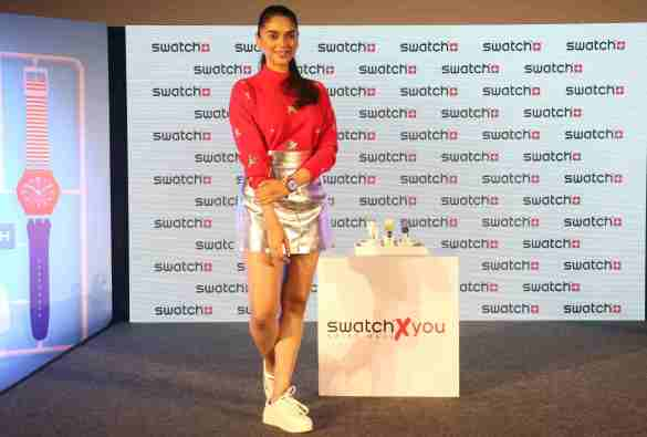 Aditi Rao Hydari, Brand friend- Swatch at the launch of Swatch's new SwatchxYou collection in Mumbai..JPG